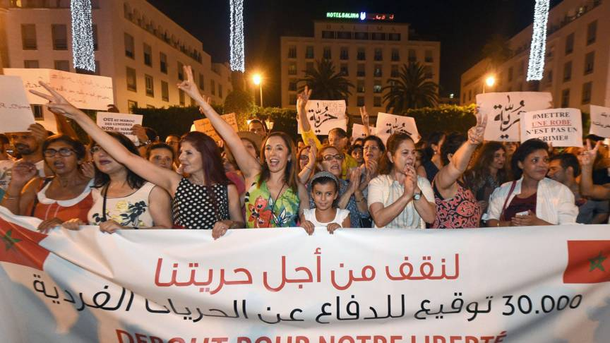 Moroccans demonstrate for LGBTQ rights, AFP photo
