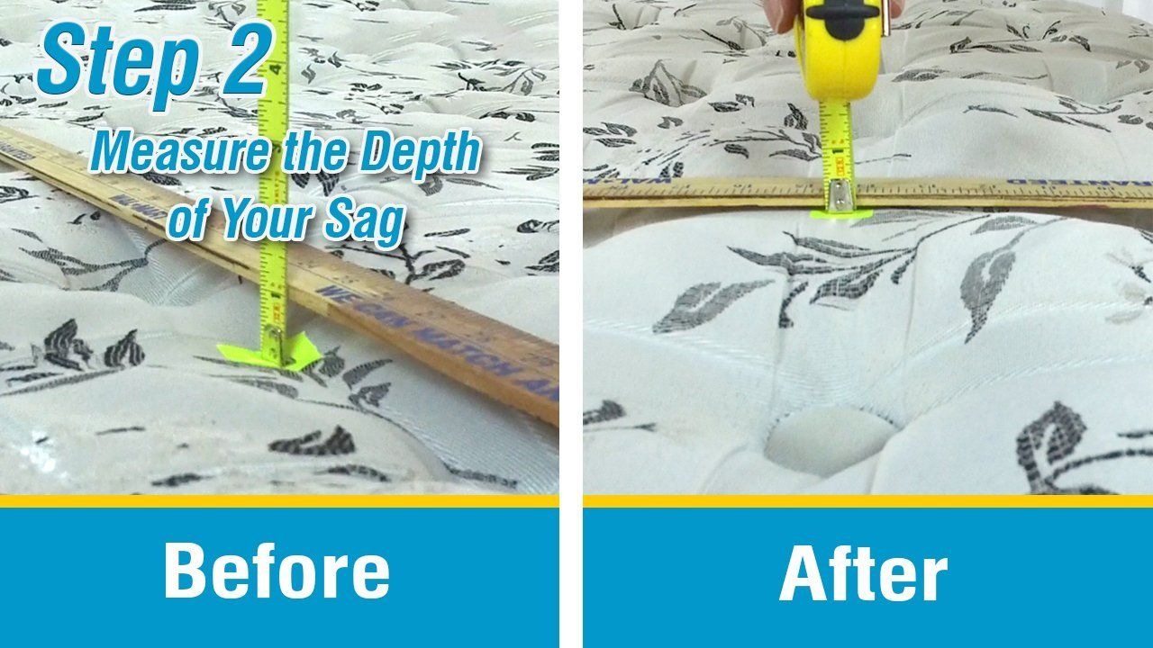 Beautiful Step (2) Measure The Depth Of Your Sag Using A Yardstick And Tape Measure..  Place Between Your Mattress And Box To Push Up Directly In The Sagging Area  On ...