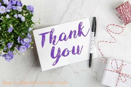 The ritual of writing thank you cards