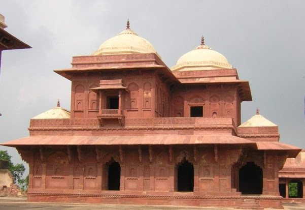 Detalle de los edificios de Fatehpur Sikri (India, 2007)