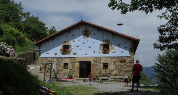La casa en que nos alojamos en Leinz-Gatzaga.