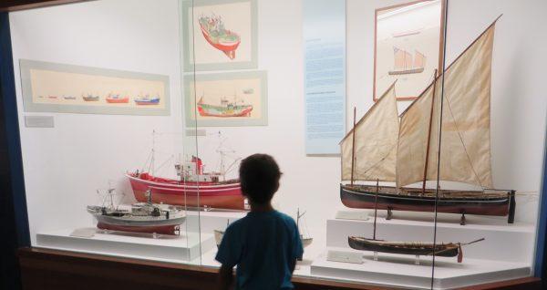 Visitando el Museo Vasco en Bilbao.