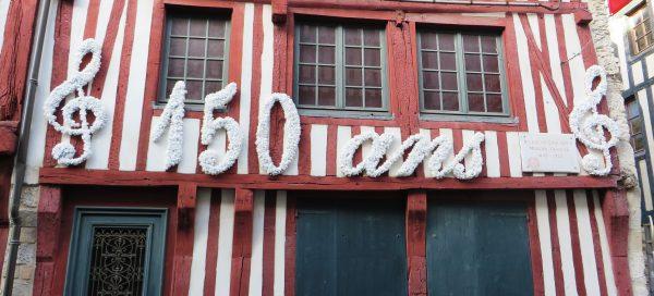 Fachada de la casa de Erik Satie en Honfleur (Francia 2016)