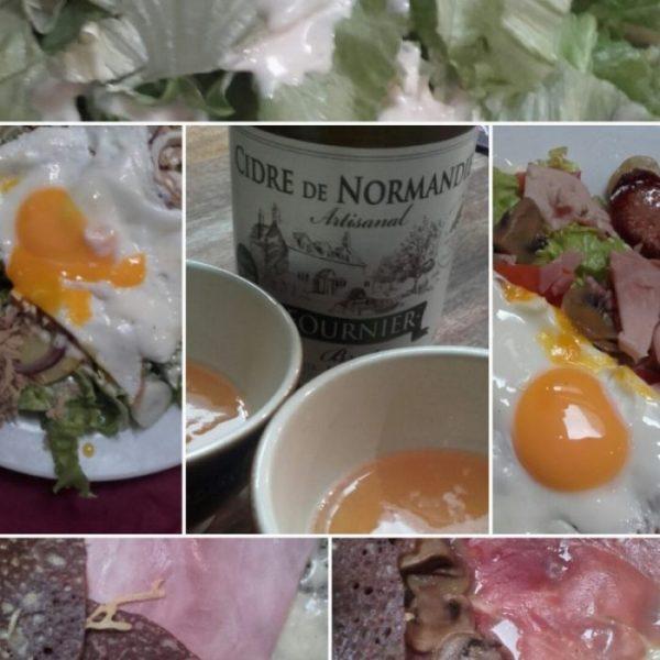 """Las """"galletes"""" o creps y la sidra no faltan en ningún restaurante normando (Francia, 2016)"""