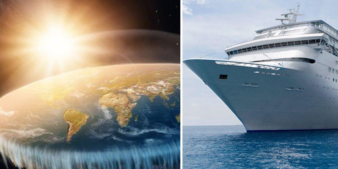 Terraplanistas fretam cruzeiro para viajar até o fim do mundo