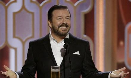 Ricky Gervais apresentará o Globo de Ouro pela quinta vez