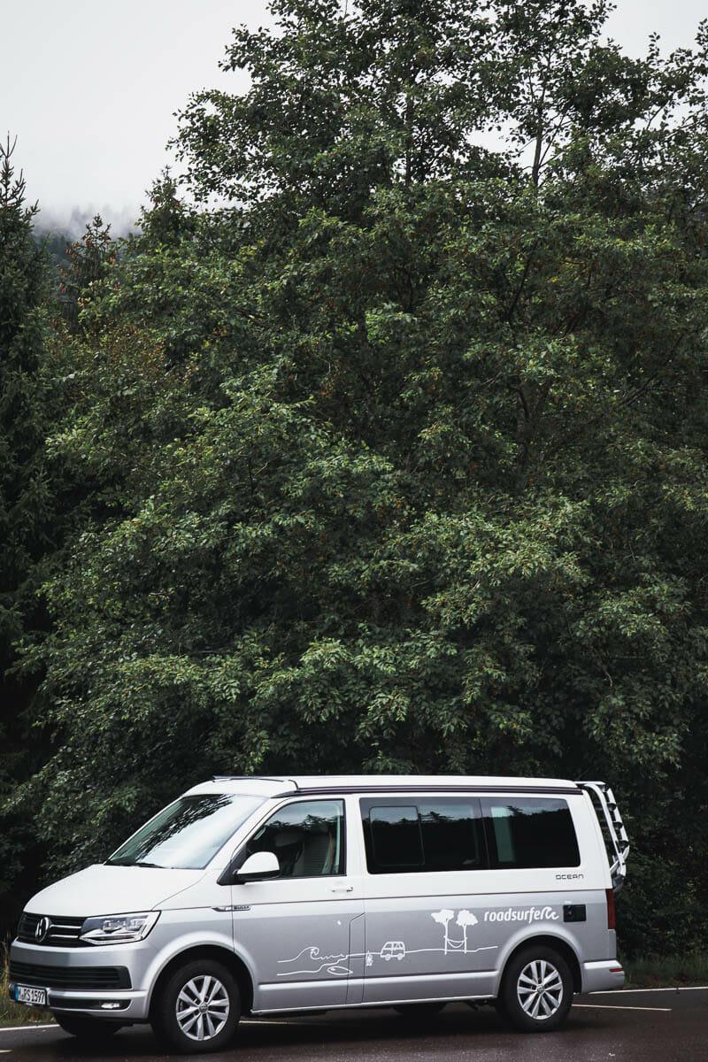 van t6 california en foret noire
