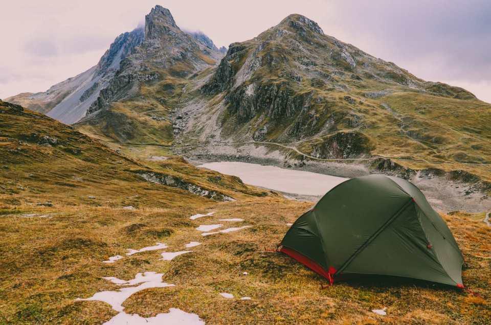 Les Alpes, initiation au bivouac au Lac des Cerces