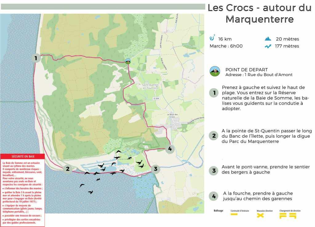 carte randonnée les crocs