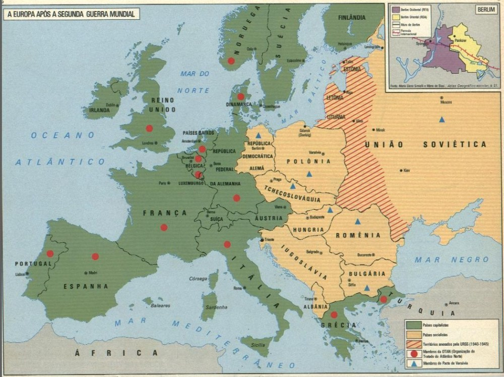 A Europa do pós-guerra: uma Europa dividida (2/2)