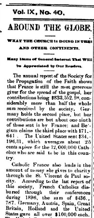 The Catholic Journal., July 02, 1898, Page 1