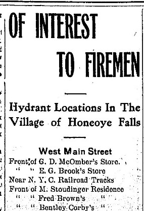 Honeoye Falls Times, July 19, 1917, p 1