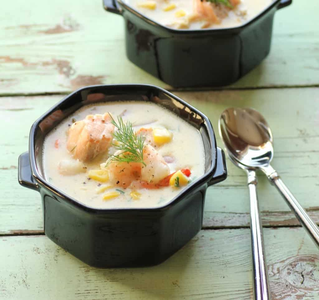Seafood Chowder for #SundaySupper by Noshing With The Nolands