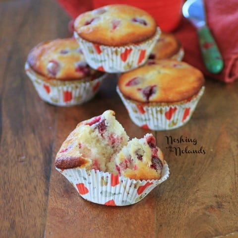 Cranberry Lemon Almond Muffins by Noshing With The Nolands