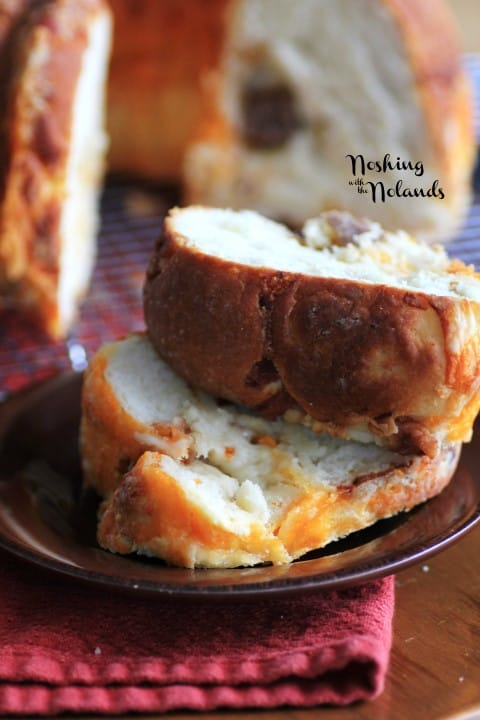 Cheesy Bacon Sausage Brioche Bundt by Noshing With The Nolnads