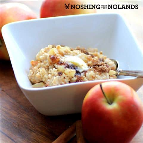 Apple Cinnamon Steel Cut Oatmeal by Noshing With Teh Nolands