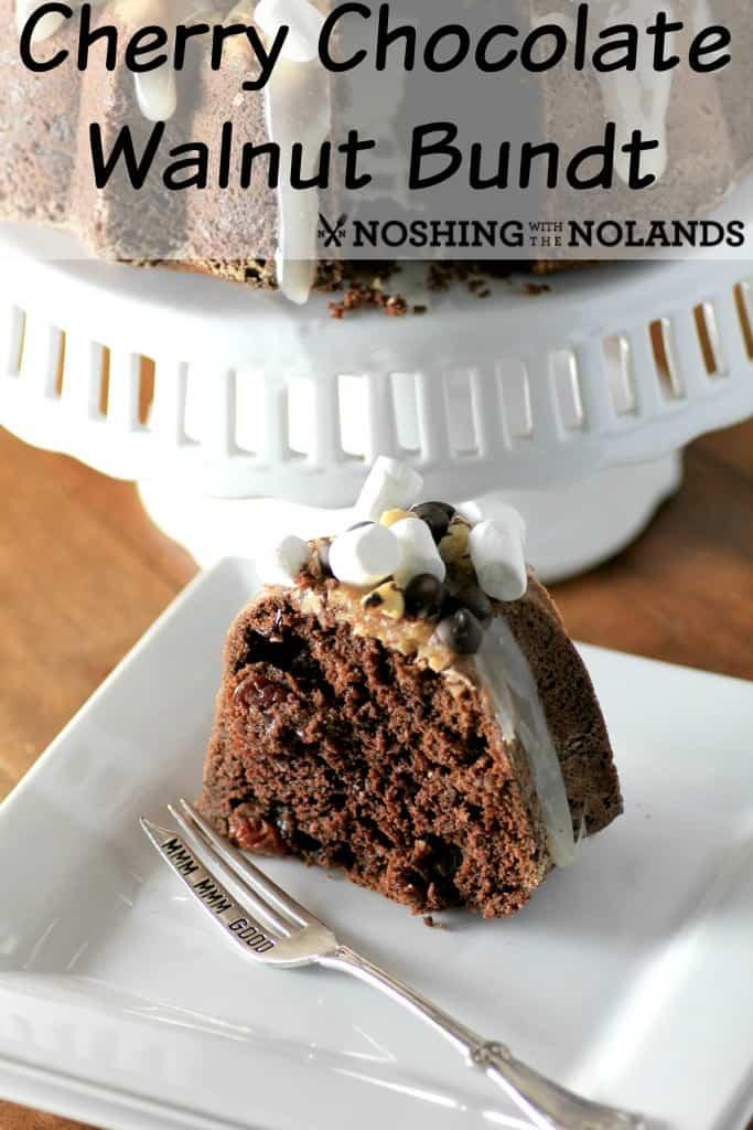 Cherry Chocolate Walnut Bundt by Noshing With The Nolands
