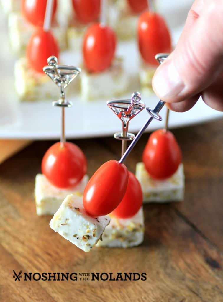 Marinated Feta Tomato Skewers by Noshing With The Nolands
