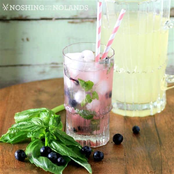 Blueberry Basil Lemonade by Noshing With The Nolands