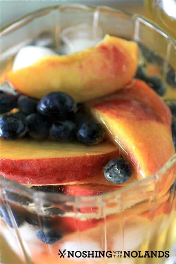 Peach Blueberry White Wine Sangria by Noshing With The Nolands (2) (Custom)