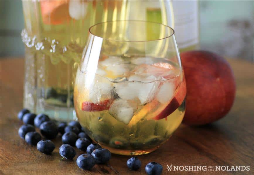 Peach Blueberry White Wine Sangria by Noshing With The Nolands (4) (Custom)