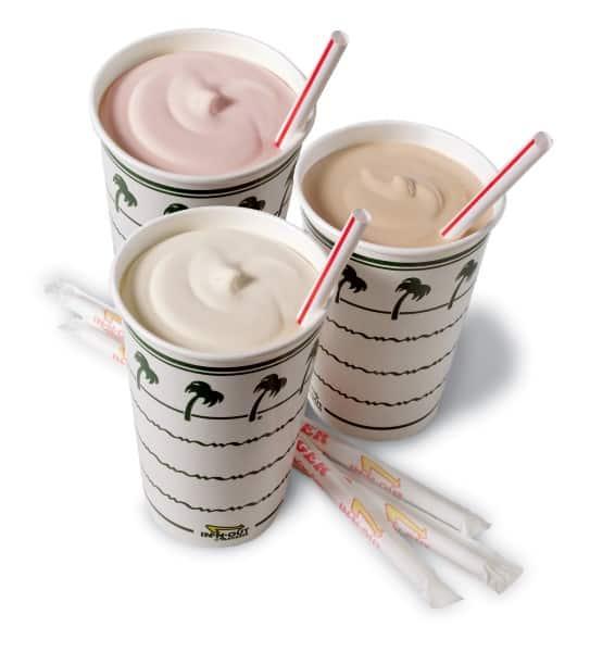 Shakes w/straws