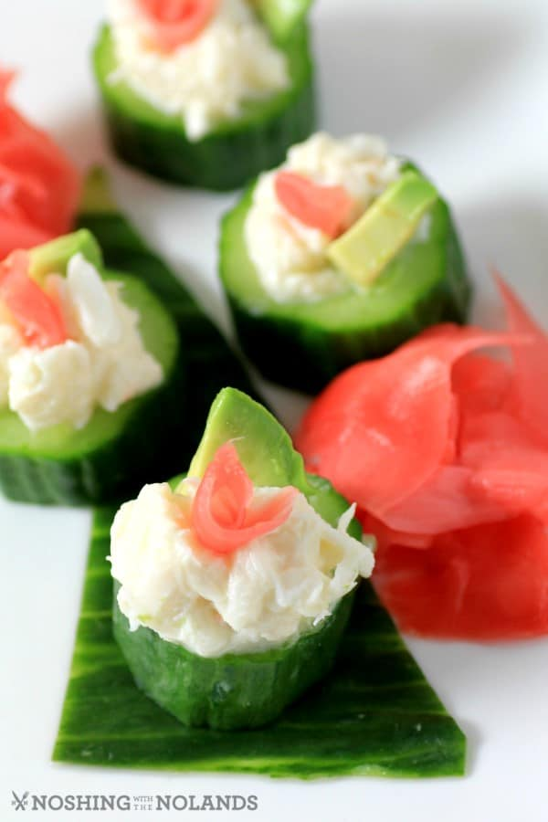 Crab Cucumber Appetizer Cups by Noshing With The Nolands (4) (Custom)