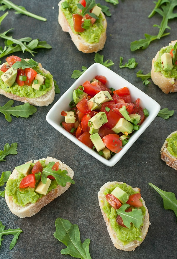 garlic-evoo-pea-puree-bruschetta-tomato-avocado-herbs-recipe-600x-1275x