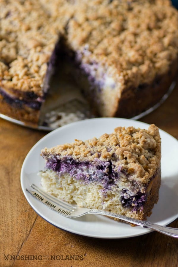 Blueberry Coffee Cream Cheese Cake