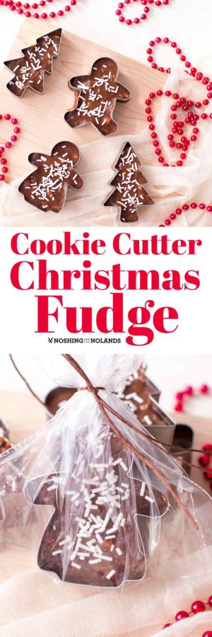 Cookie Cutter Christmas Fudge is the perfect little gift for the holidays! #cookiecutter #fudge #Christmas