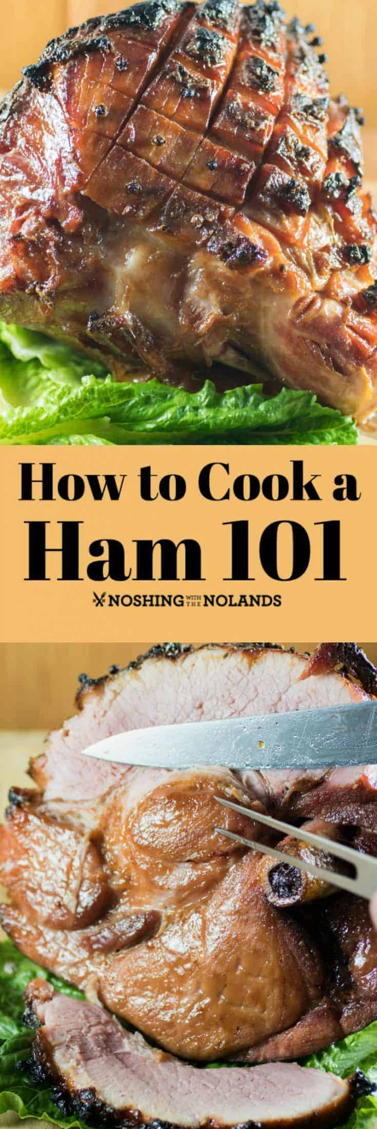 How to Cook a Ham 101 will give you a gorgeous ham each time. The glaze for this recipe is totaly amazing!!  #ham #howto #baked #ccok