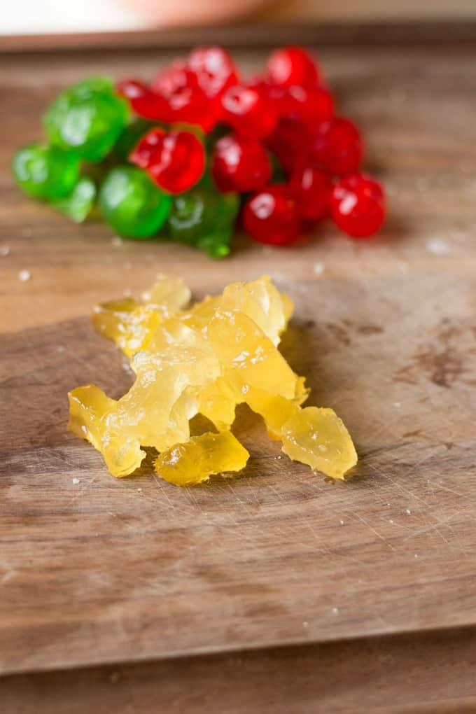 Candied fruit for Best Ever Fruitcake Cookies