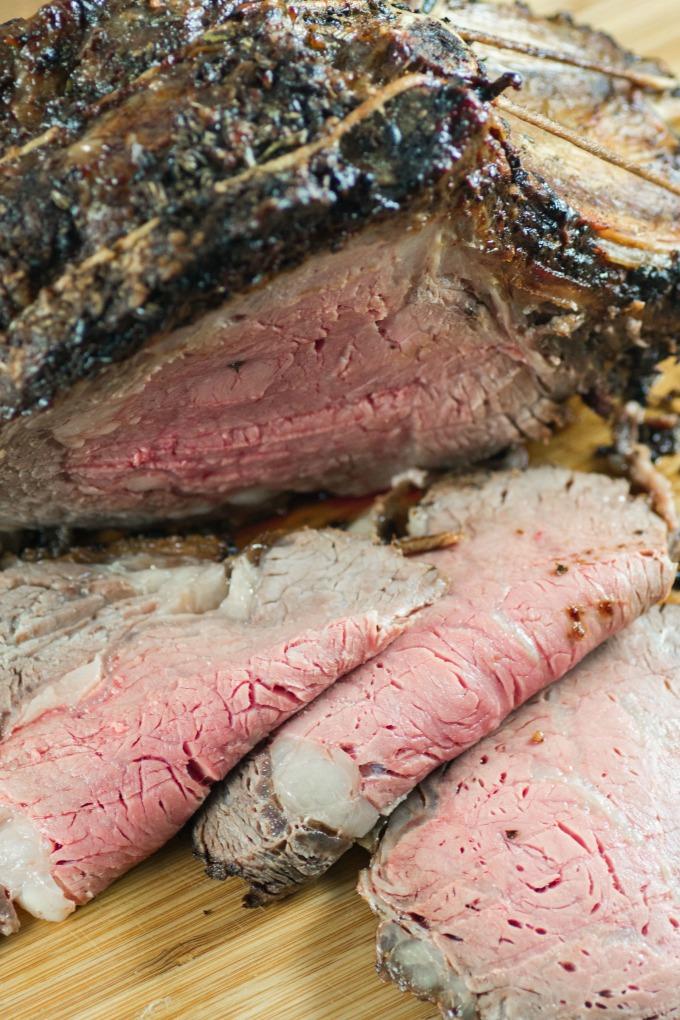 Roast Beef sliced on a board