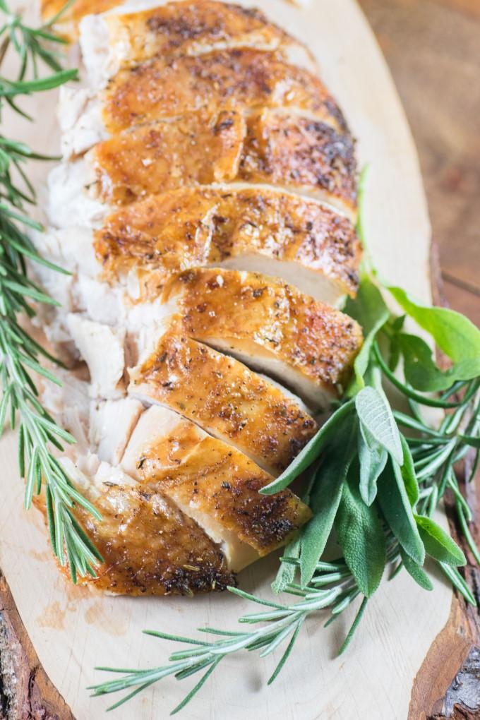 Sliced Turkey with herbs