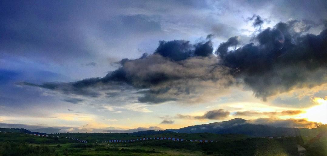 Skies of Meghalaya, at Umroi Airport - Shillong
