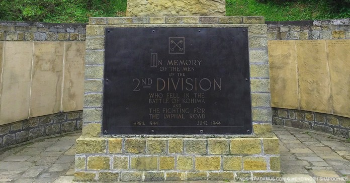 Kohima War Cemetary – In memory of the men of the 2nd Division