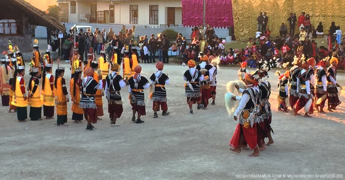 Seng Khasi dancers at Smit, in Meghalaya