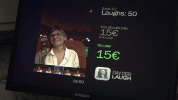 estimation du prix en fonction du nombre de rires