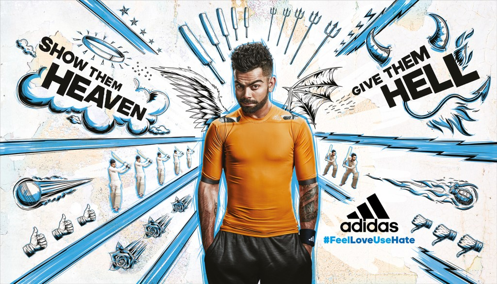 Adidas blue poster 30x17 inch