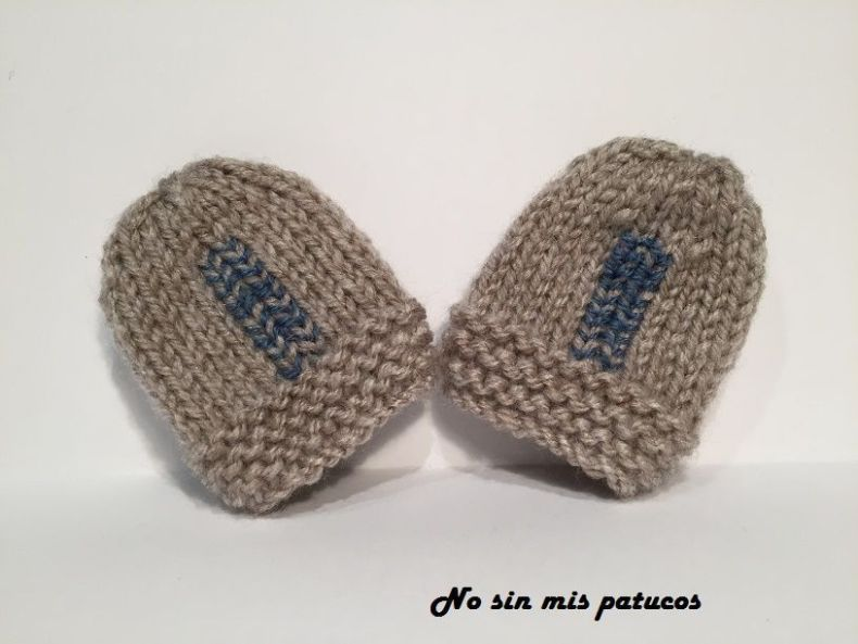 Manoplas para bebe recién nacido.