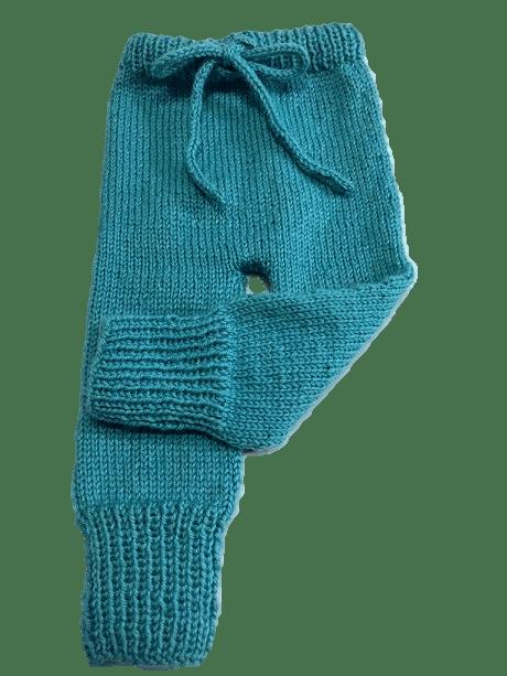 pantalón con condon tejido con agujas circulares