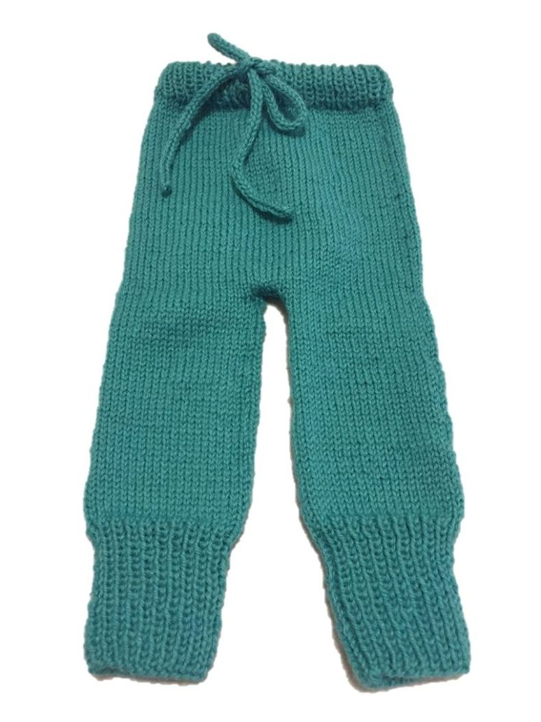 Pantalón con cordón tejido con agujas circulares. - No sin mis patucos 05a80862361