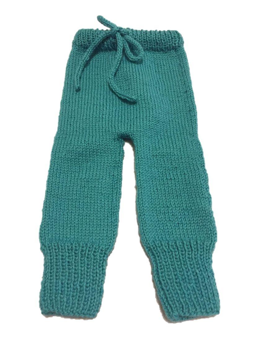 pantalón tejido con agujas circulares