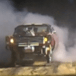Straight Axle Gasser Galaxy Burnout on the Pad at Pre Lead East Show.