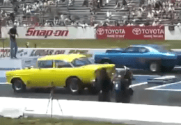 Dodge Dart racing 1955 Chevy