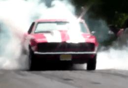 Cars doing Burnouts at Profab