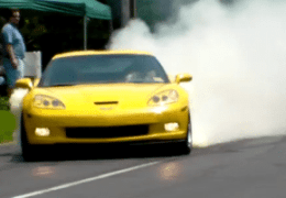 Smoking Vette tires