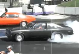 Chevy Novas race at PINKS