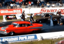 Chevy's Drag racing at Shakedown