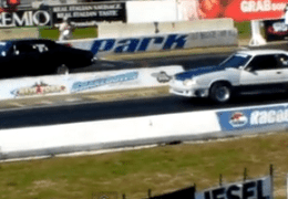 Traction problems in this drag race